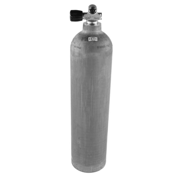 Stage Aluminium Tauchflasche, Ventil Links, 5,7L 40cft Natur, Dirty Beast