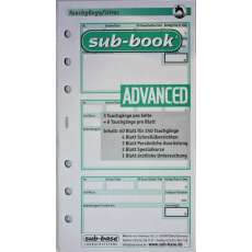 Sub-Book Taucherlogbuch Ersatzseiten, Advanced,240TG