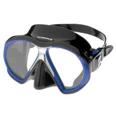 Maske Atomic SubFrame black w/royal blue Medium Fit