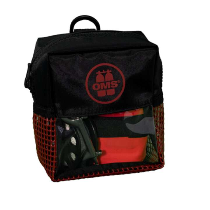 OMS Bojen Set Safety 3.3, SMB Hybrid 1m, 75 Spool, Bag Indian Rot
