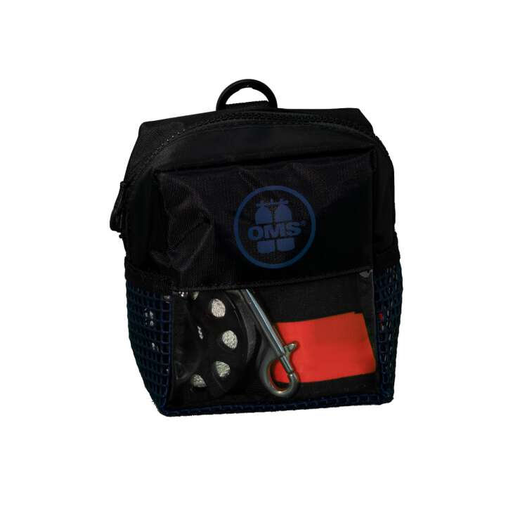 OMS Bojen Set Safety 6.0 Slim open 1,8m Hybrid SMB, 75 Spool, Bag Ocean Blau