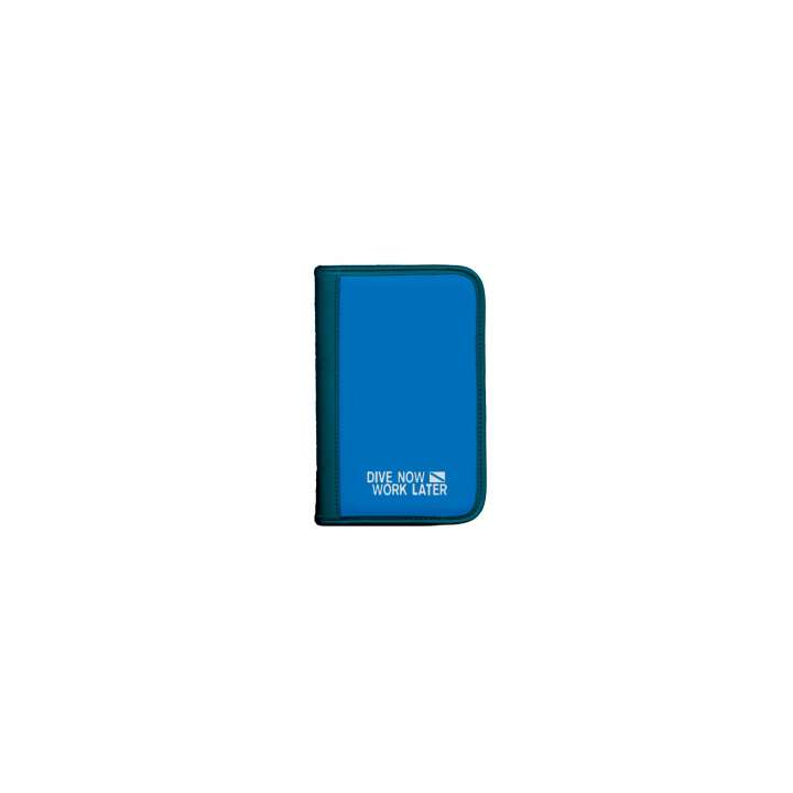sub-book Taucherlogbuch blau, Dive now-work later